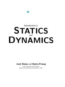 Introduction to statics and dynamics