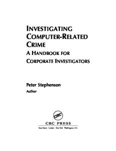 Investigating Computer- Related Crime a Handbook for Corporate Investigators