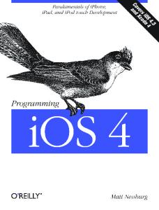 iPad and iPhone Programming: The Definitive Guide