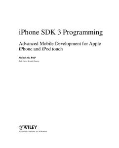 iPhone SDK 3 Programming: Advanced Mobile Development for Apple iPhone and iPod touch