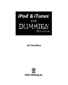 iPod & iTunes For Dummies, 6th edition