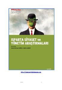 Isparta Siyaset ve Yönetim Araştırmaları