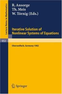 Iterative Solution of Nonlinear Systems of Equations