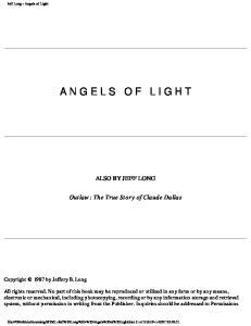 Jeff Long - Angels of Light