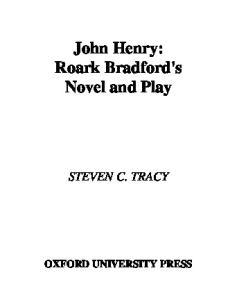 John Henry: Roark Bradford's Novel and Play