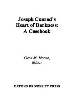 Joseph Conrad's Heart of Darkness: A Casebook (Casebooks in Criticism)
