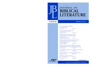 Journal of Biblical Literature, Vol. 125, No. 2 (Summer 2006)