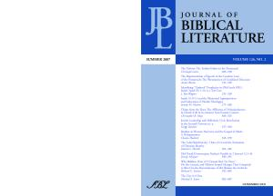 Journal of Biblical Literature, Vol. 126, No. 2 (Summer 2007)