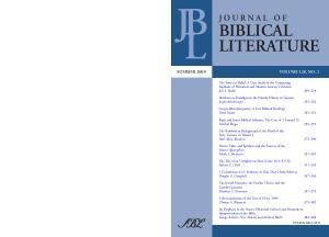 Journal of Biblical Literature. Vol. 128, No. 2 (Summer 2009)
