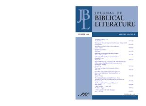 Journal of Biblical Literature, Vol. 128, No. 4 (Winter 2009)