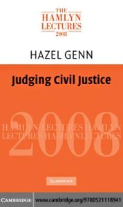 Judging Civil Justice (The Hamlyn Lectures)
