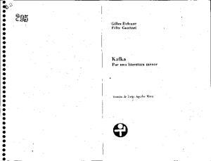Kafka: Por Una Literatura Menor