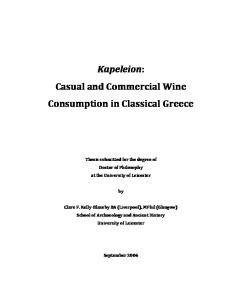Commercial Navigation in the Greek and Roman World (PhD University