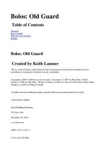 Keith Laumer - Bolos Old Guard