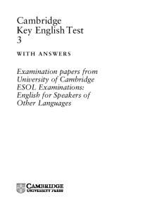 Key English Test 3 Student's Book with Answers