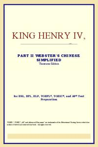 King Henry IV, Part II (Webster's Chinese-Traditional Thesaurus Edition)