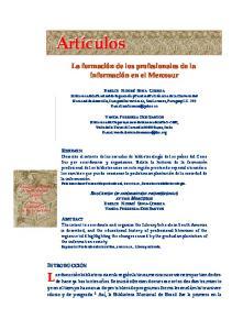 La Formacion De Los Profesionales De La Informacion En El Mercosur