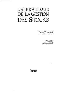 La pratique de la gestion des stocks 4e éd