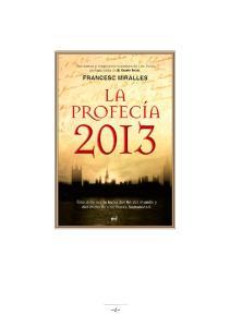 La profecia 2013 Historia Literatura Universal