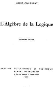L'algèbre de la logique
