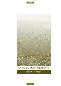 Land Forces Weapons. Export Catalogue