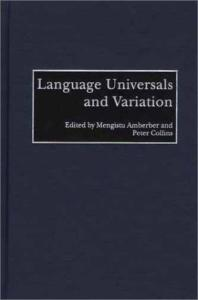 Language Universals and Variation