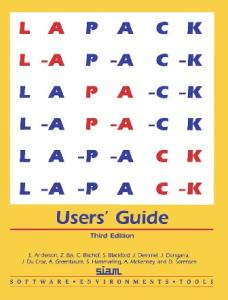LAPACK Users' Guide