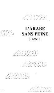 L'Arabe sans peine, tome 2