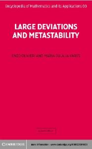 Large Deviations and Metastability