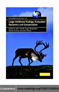 Large Herbivore Ecology, Ecosystem Dynamics and Conservation (Conservation Biology)