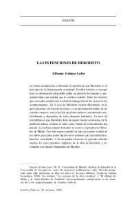 Las Intenciones De Herodoto