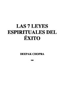 Las Siete Leyes Espirituales Del Exito the Seven Spiritual Laws Of Success