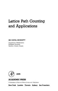 Lattice Path Counting and Applications (Probability & Mathematical Statistics Monograph)