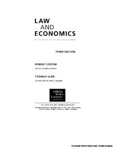 Law and Economics (3rd Edition)