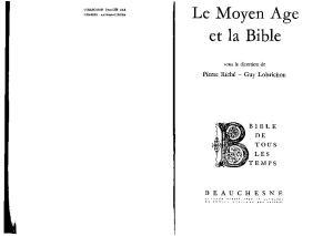 Le Moyen Age et la Bible (Bible de tous les temps)