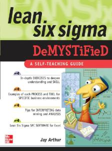 Lean Six Sigma Demystified: A Self-Teaching Guide