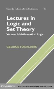 Lectures in logic and set theory. Mathematical logic