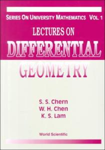 Lectures on differential geometry