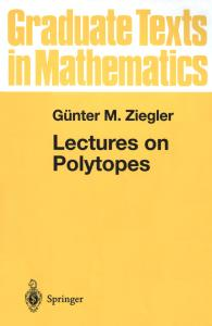 Lectures on Polytopes (Graduate Texts in Mathematics)