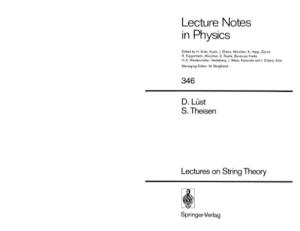 Lectures on String Theory