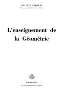 L'enseignement de la Geometrie