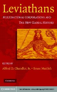 Leviathans: Multinational Corporations and the New Global History