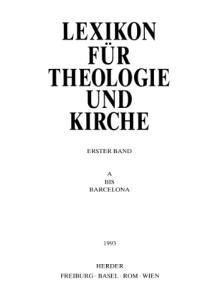 Lexikon für Theologie und Kirche (LThK3) - Band 1