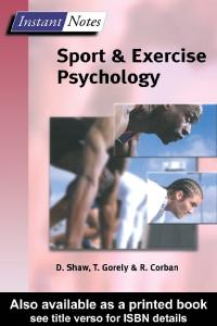 Lincoln Sports and Exercise Science Degree Pack: BIOS Instant Notes in Sport and Exercise Psychology