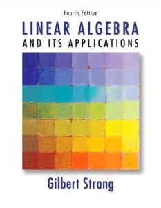 Linear Algebra and Its Applications (4th Edition)