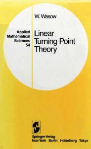 Linear Turning Point Theory (Applied Mathematical Sciences)