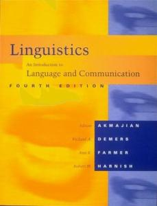 Linguistics: an introduction to language and communication  - 4th Edition