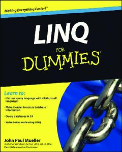 LINQ For Dummies (For Dummies (Computer Tech))