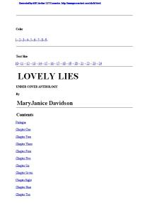 Lively Lies
