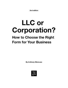 LLC or Corporation? How to Choose the Right Form for Your Business